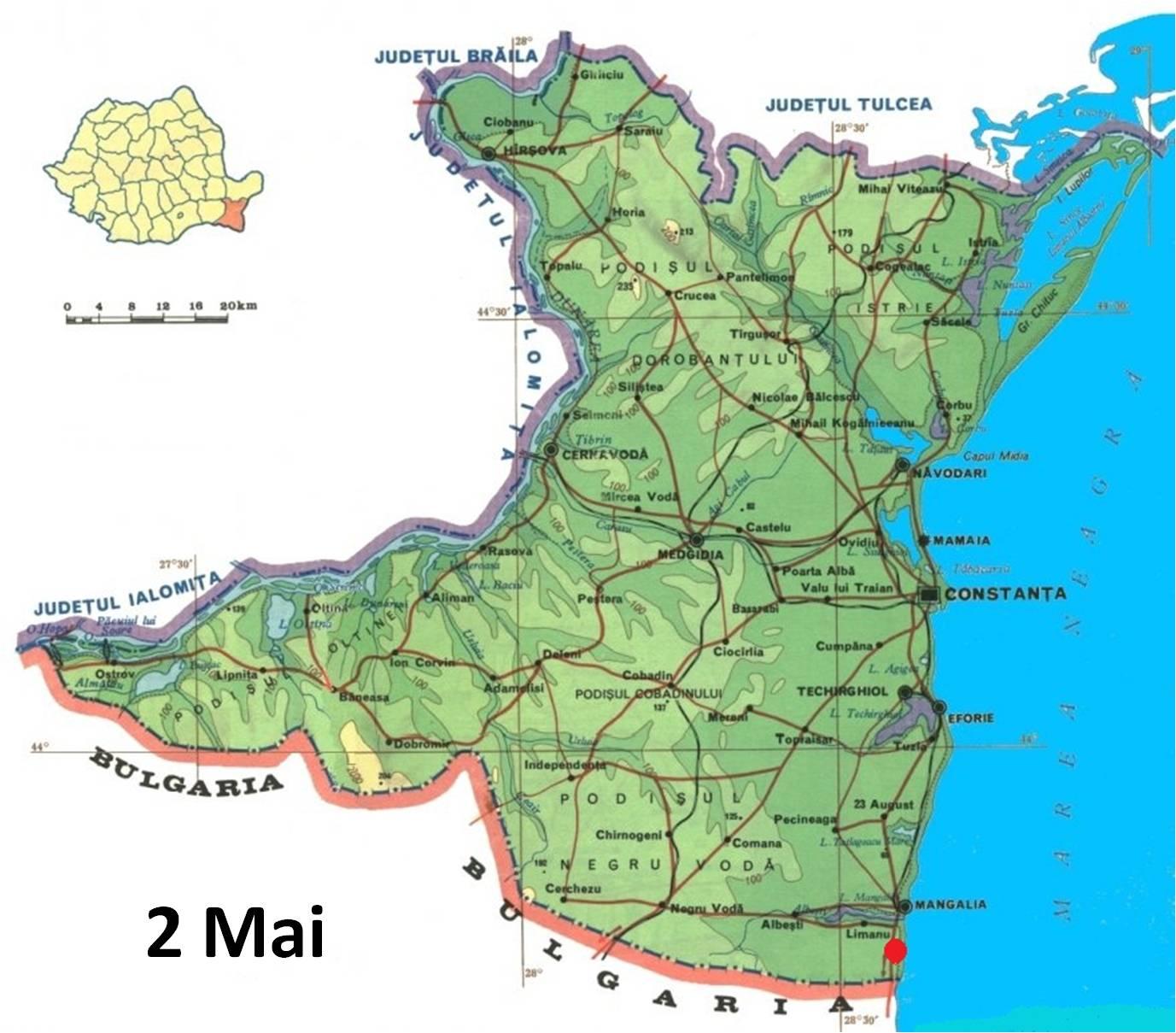 Harta turistica 2 Mai cazare