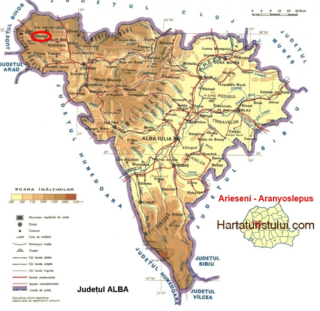Arieseni Judetul Alba Transilvania Bazinul Carpatic Romania