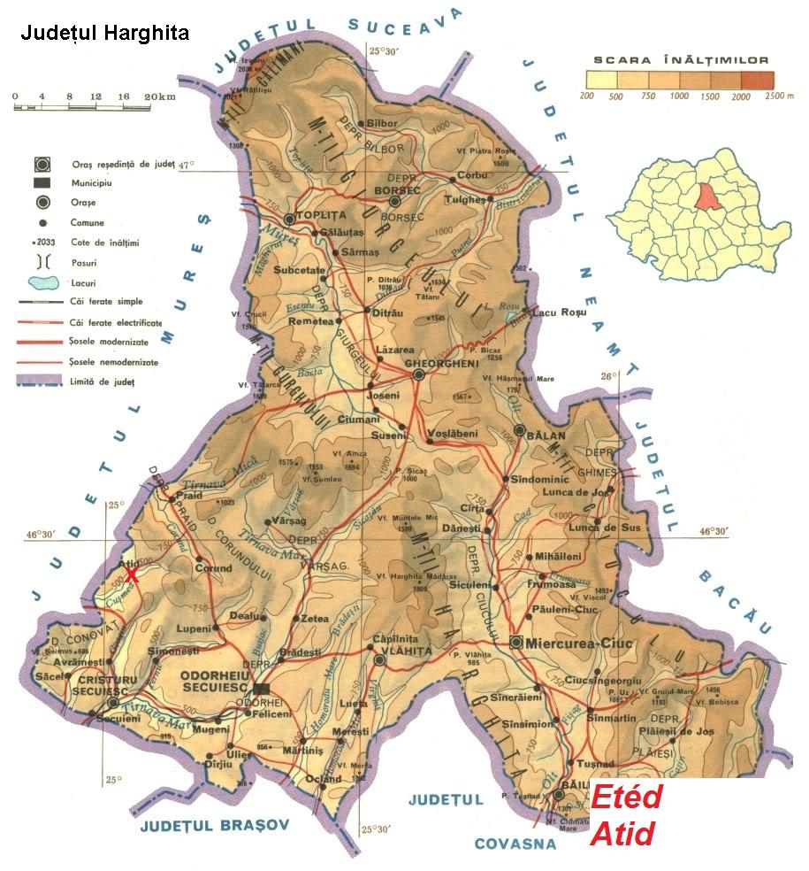 Etéd turisztikai térképe - szállás