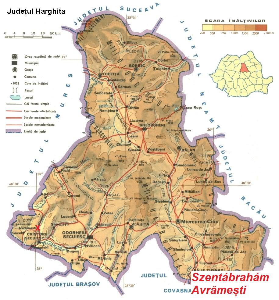 Szentábrahám turisztikai térképe - szállás