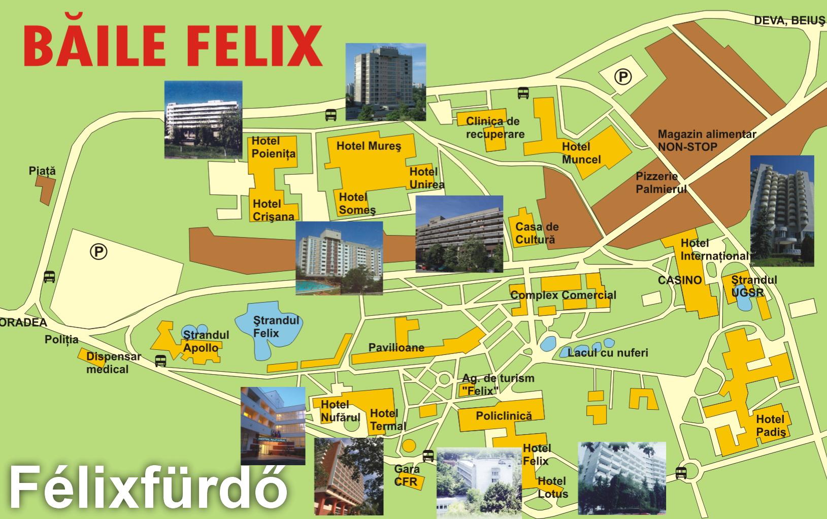 Harta turistica Baile Felix cazare