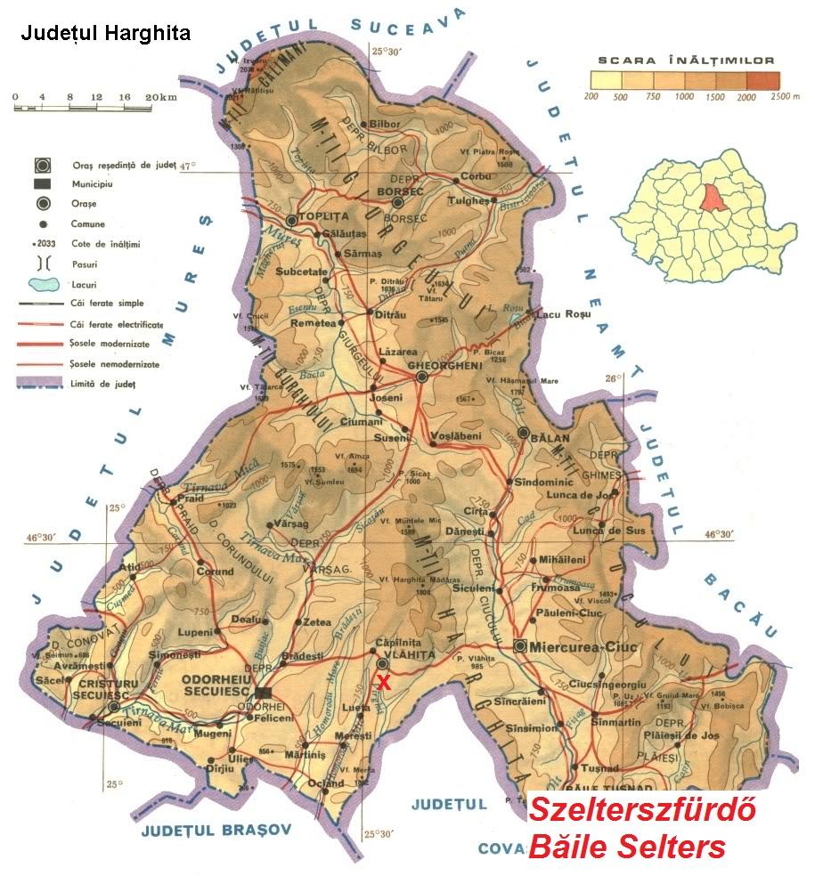 Szelterszfürdő turisztikai térképe - szállás