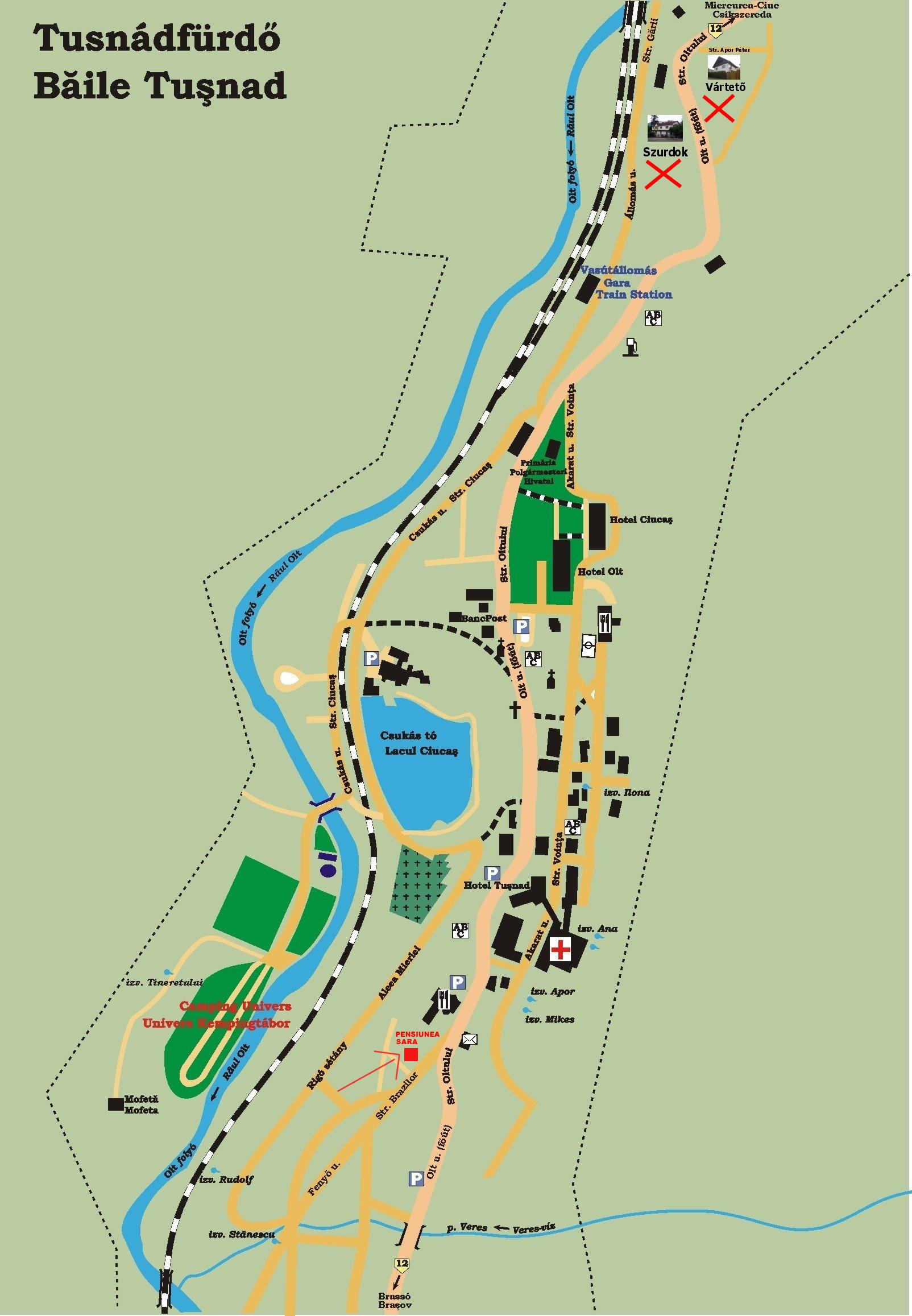 Harta turistica Baile Tusnad cazare