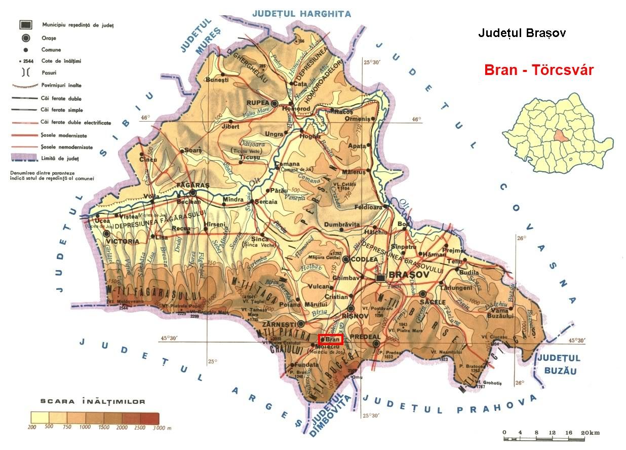 Harta turistica Bran cazare