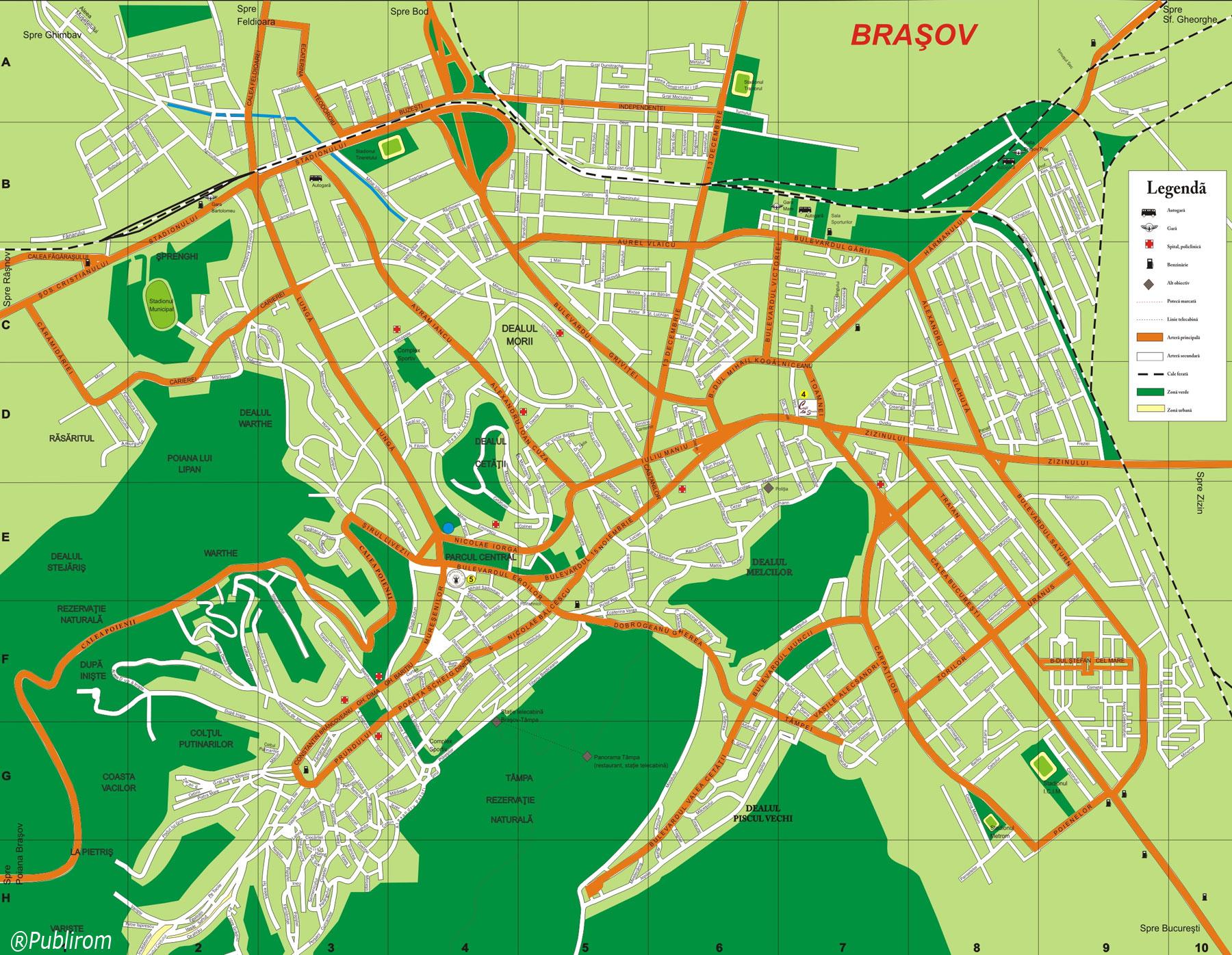 Harta turistica Brasov cazare