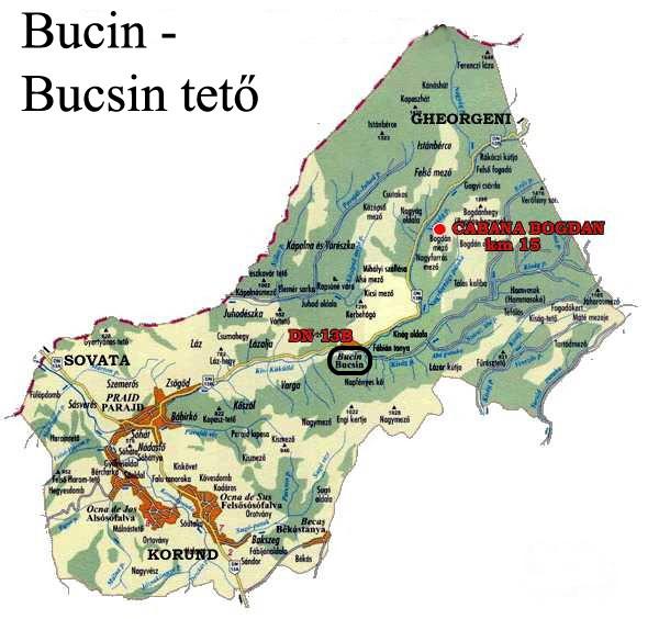 Bucsin turisztikai térképe - szállás