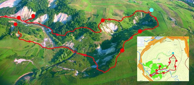 Harta turistica Canionul de Sare Praid cazare