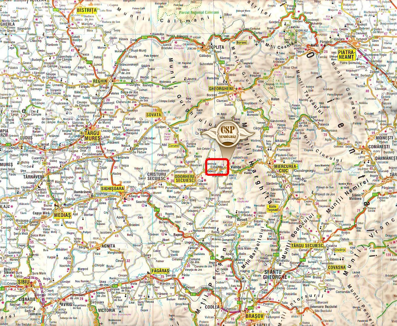 Kápolnásfalu turisztikai térképe - szállás