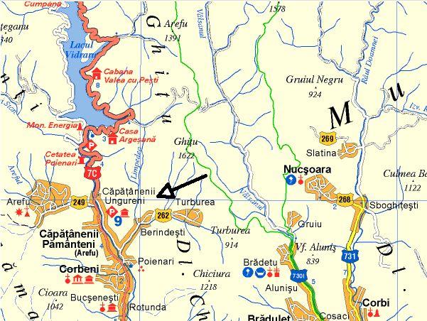 Harta turistica Capataneni cazare