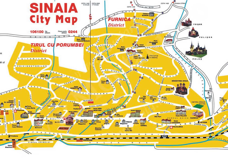 Harta turistica Castelul Peles cazare