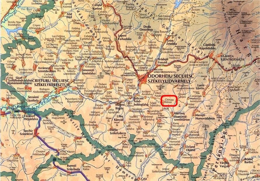 Kőrispatak turisztikai térképe - szállás