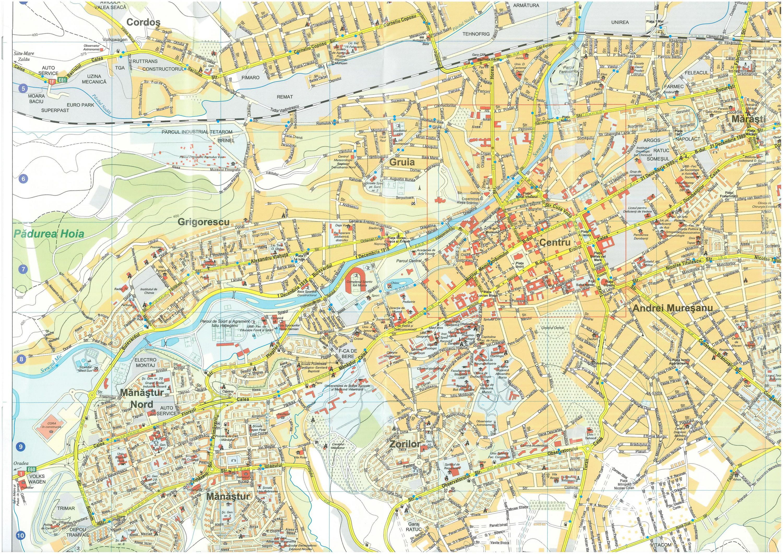 Harta turistica Cluj Napoca cazare