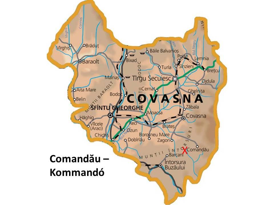 Harta turistica Covasna cazare
