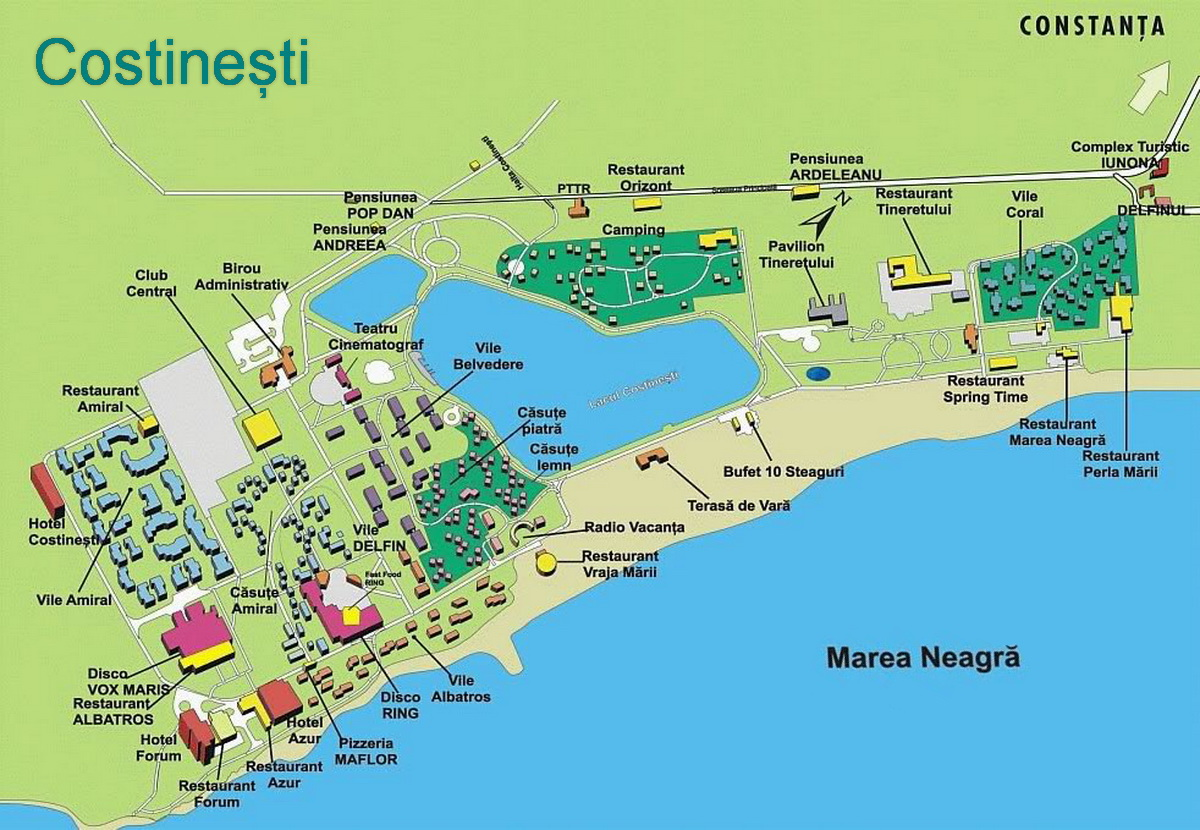 Harta turistica Costinesti cazare