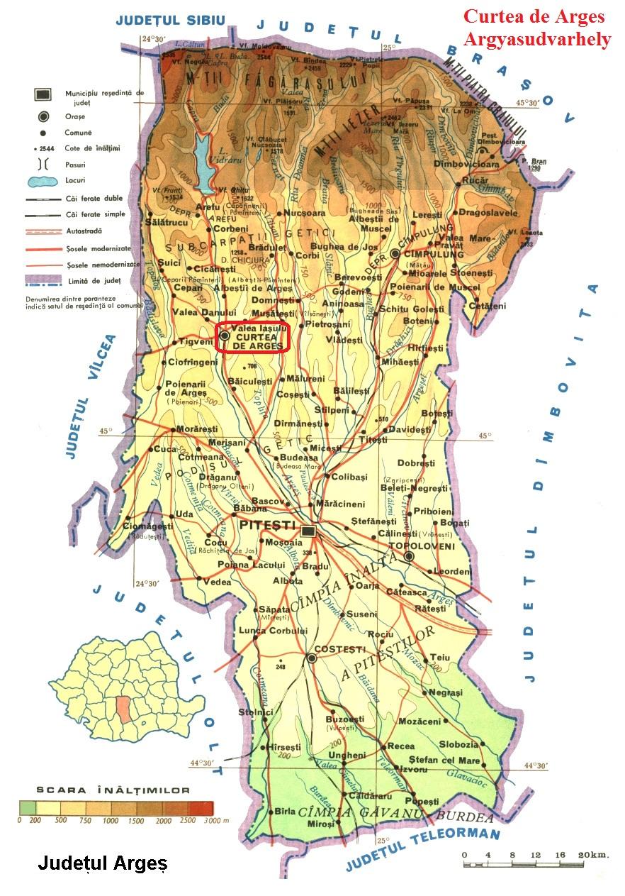 Harta turistica Curtea de Arges cazare