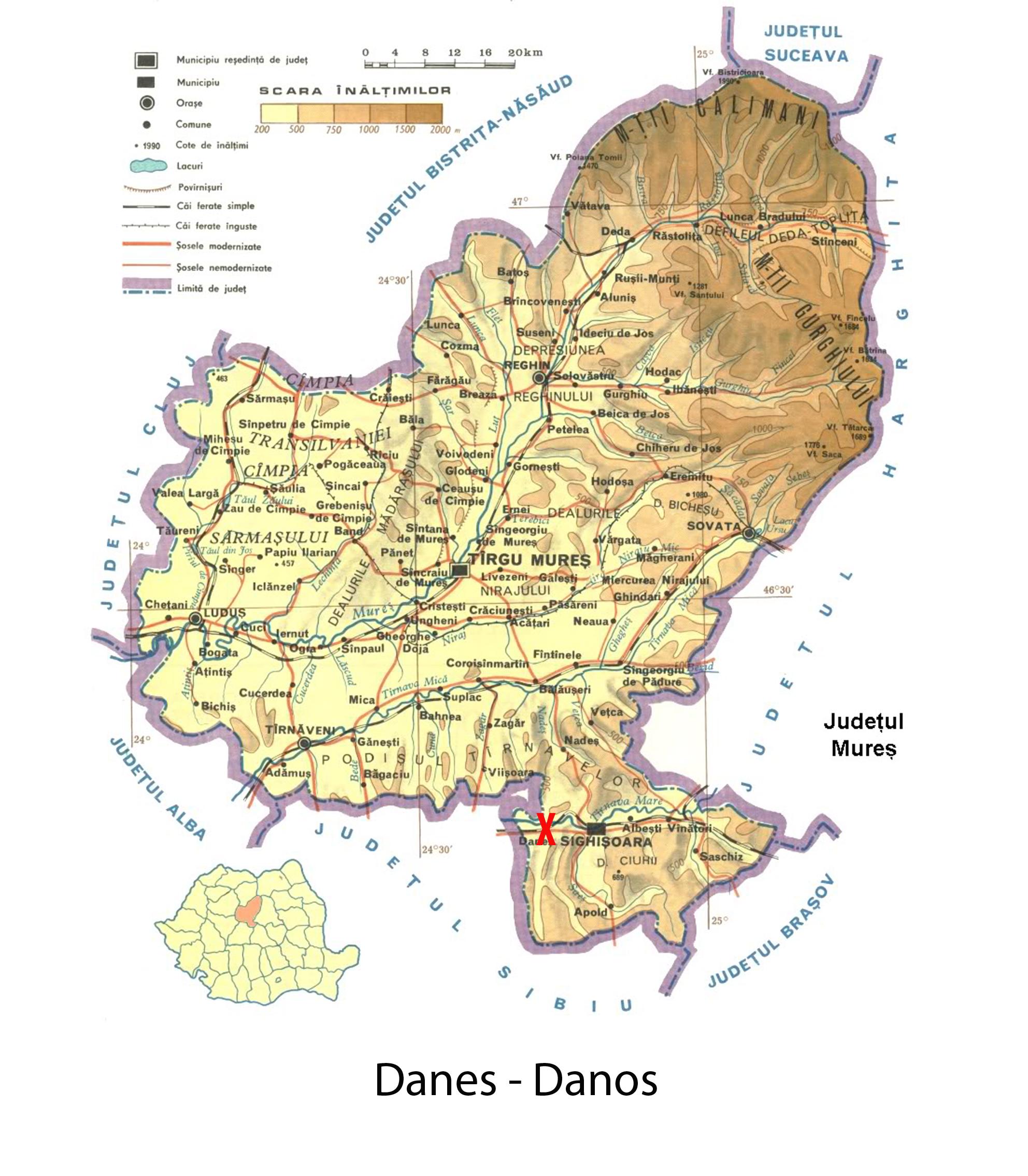 Harta turistica Danes   cazare