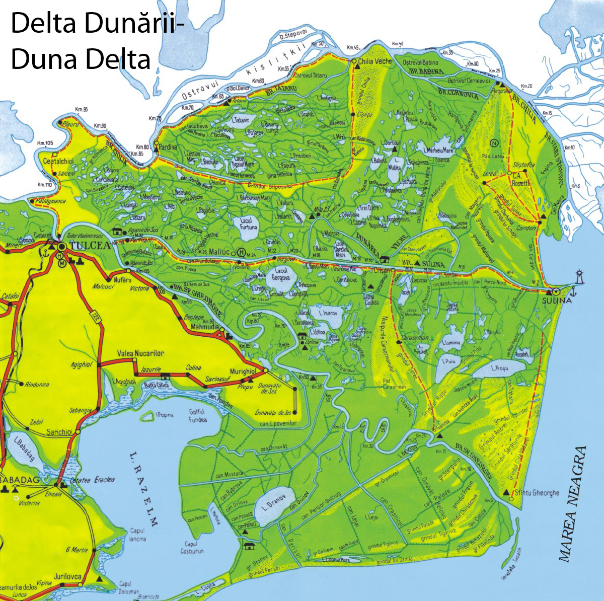 Harta turisticaDelta Dunarii cazare