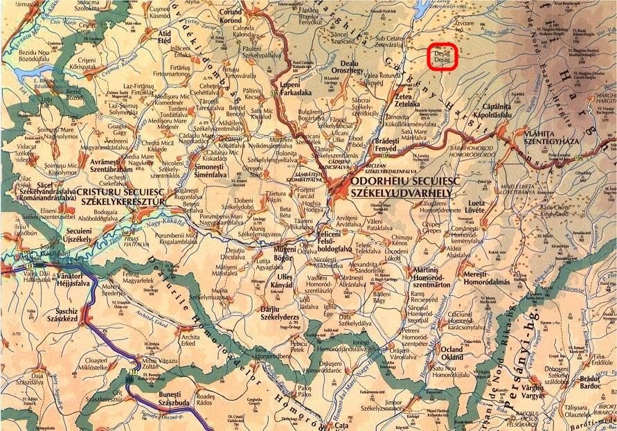 Déság turisztikai térképe - szállás