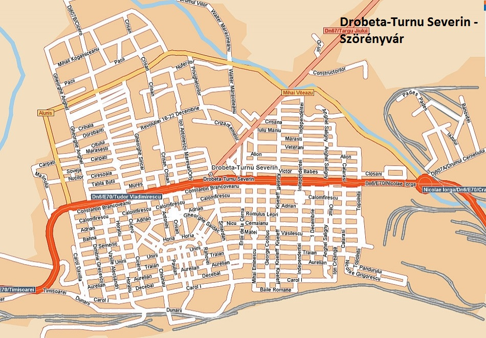 Harta turistica Drobeta Turnu Severin cazare