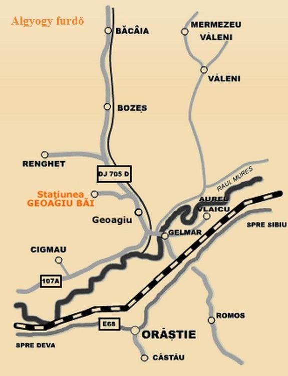 Harta turistica Geoagiu Bai cazare