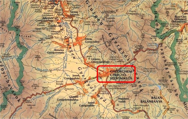 Harta turistica Gheorgheni cazare