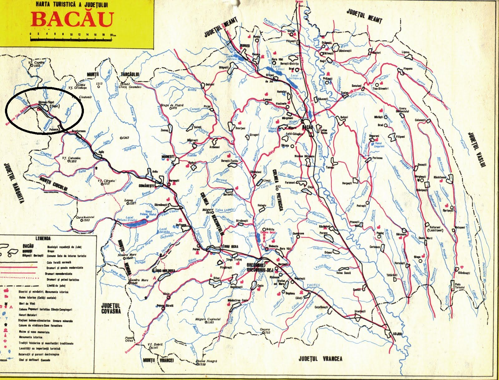 Harta turistica Faget (Pasul Ghimes) cazare