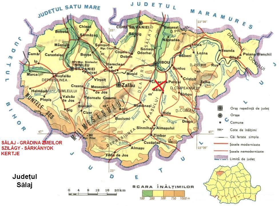 Harta turistica Gradina Zmeilor cazare