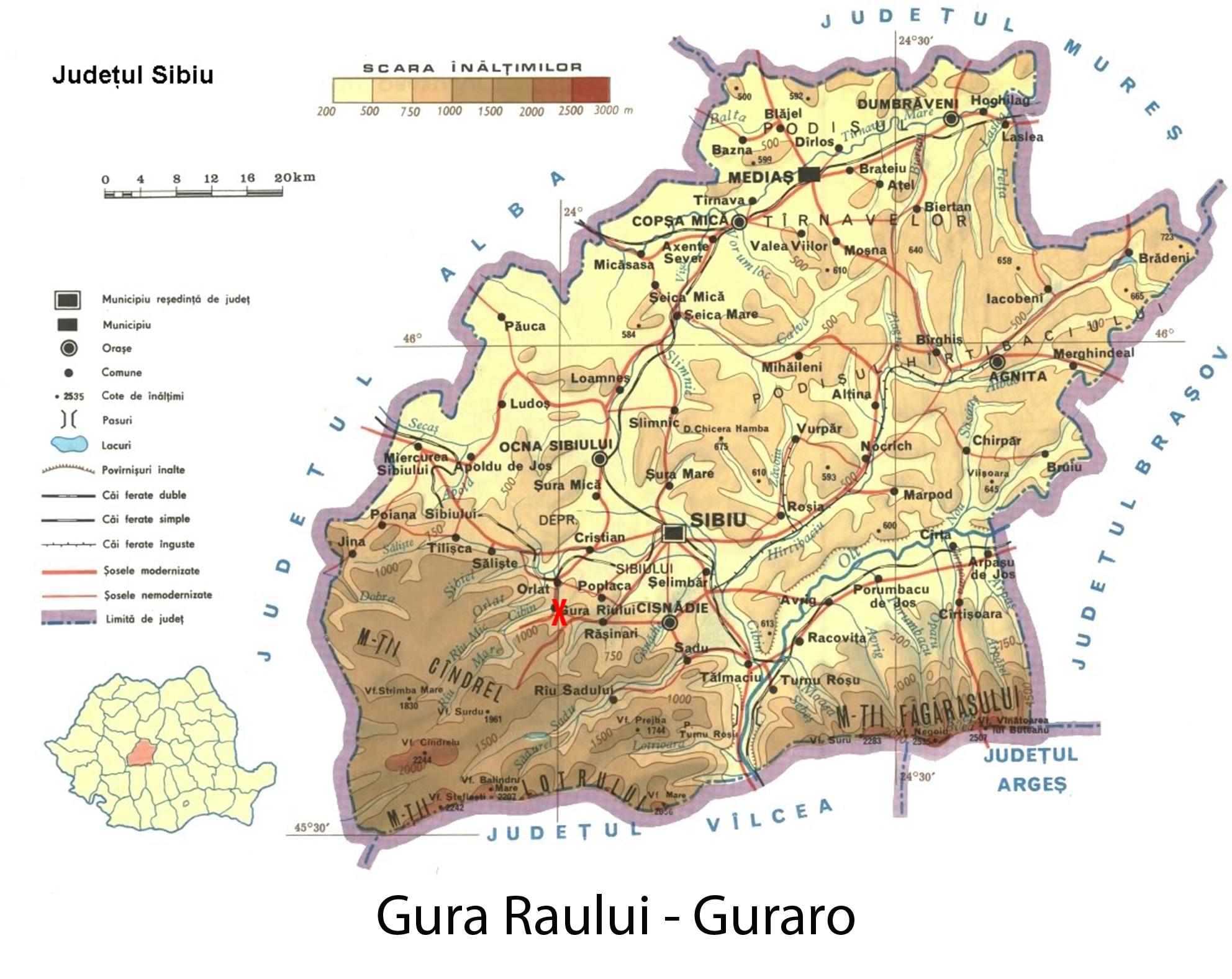 Gura Raului Judetul Sibiu Transilvania Bazinul Carpatic
