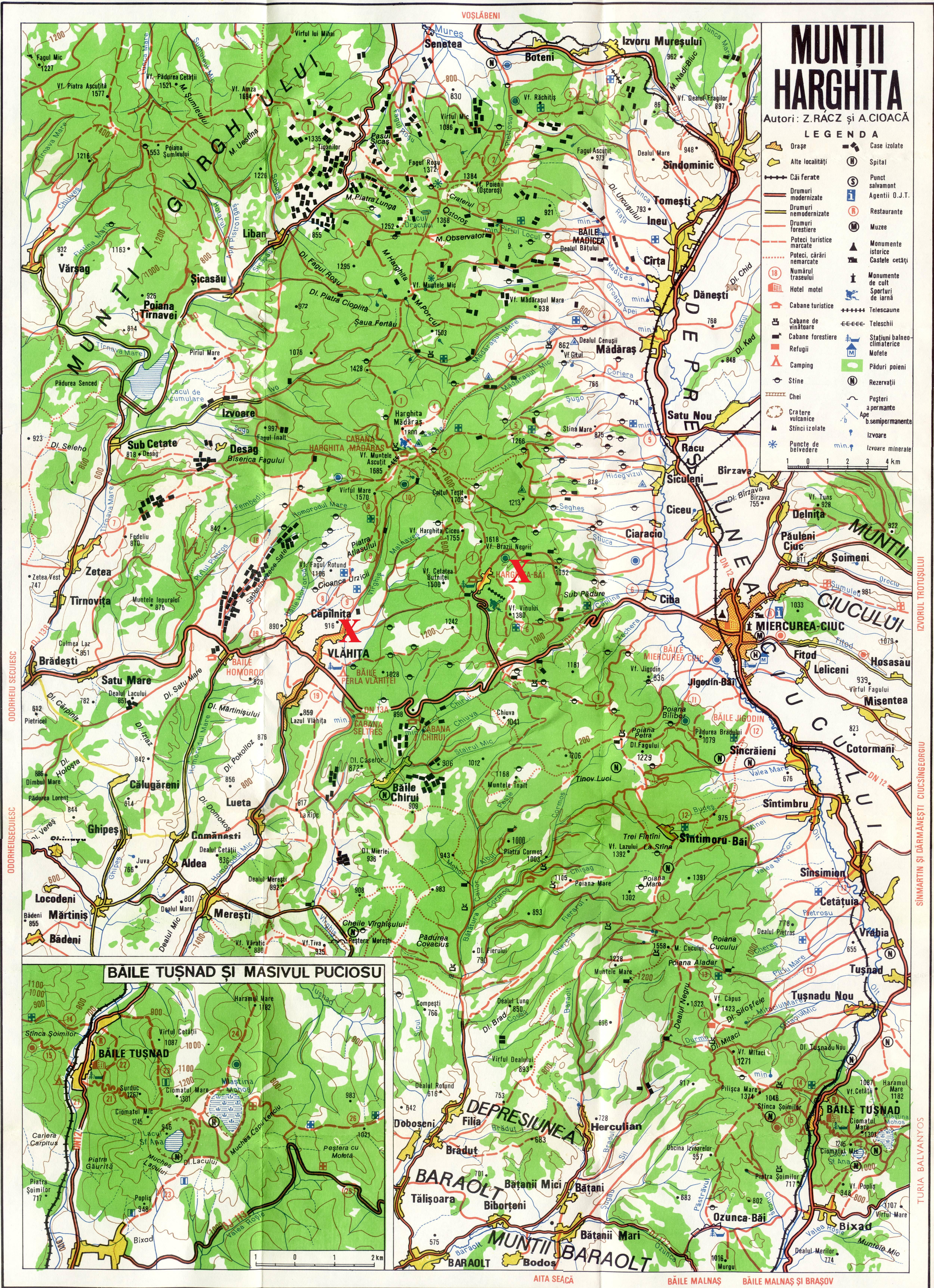 Harta turistica Harghita Bai - Pasul Vlahita cazare