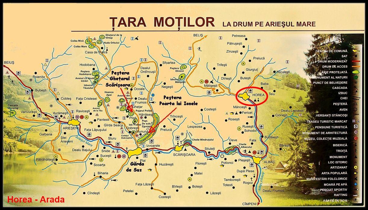 Harta turistica Horea cazare