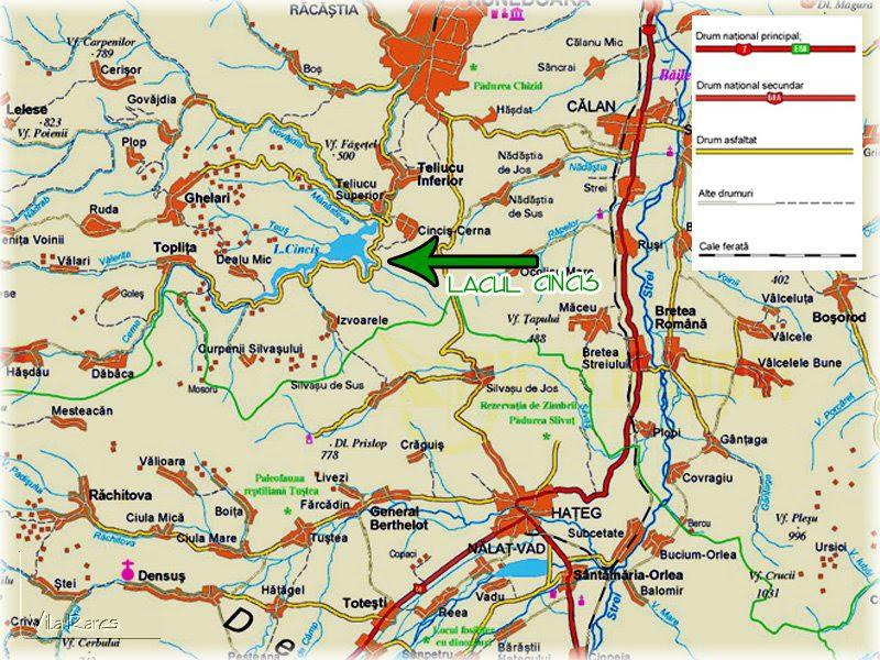 Lacul Cincis Judetul Hunedoara Transilvania Bazinul Carpatic