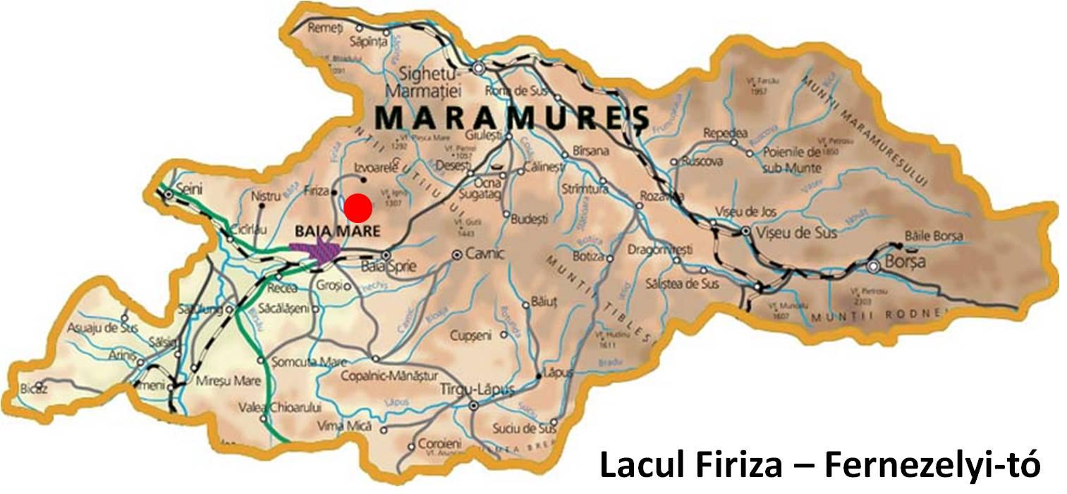 Harta turistica Lacul Firiza cazare
