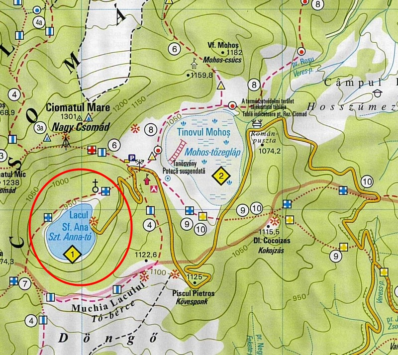 Harta turistica Lacul Sfanta Ana cazare