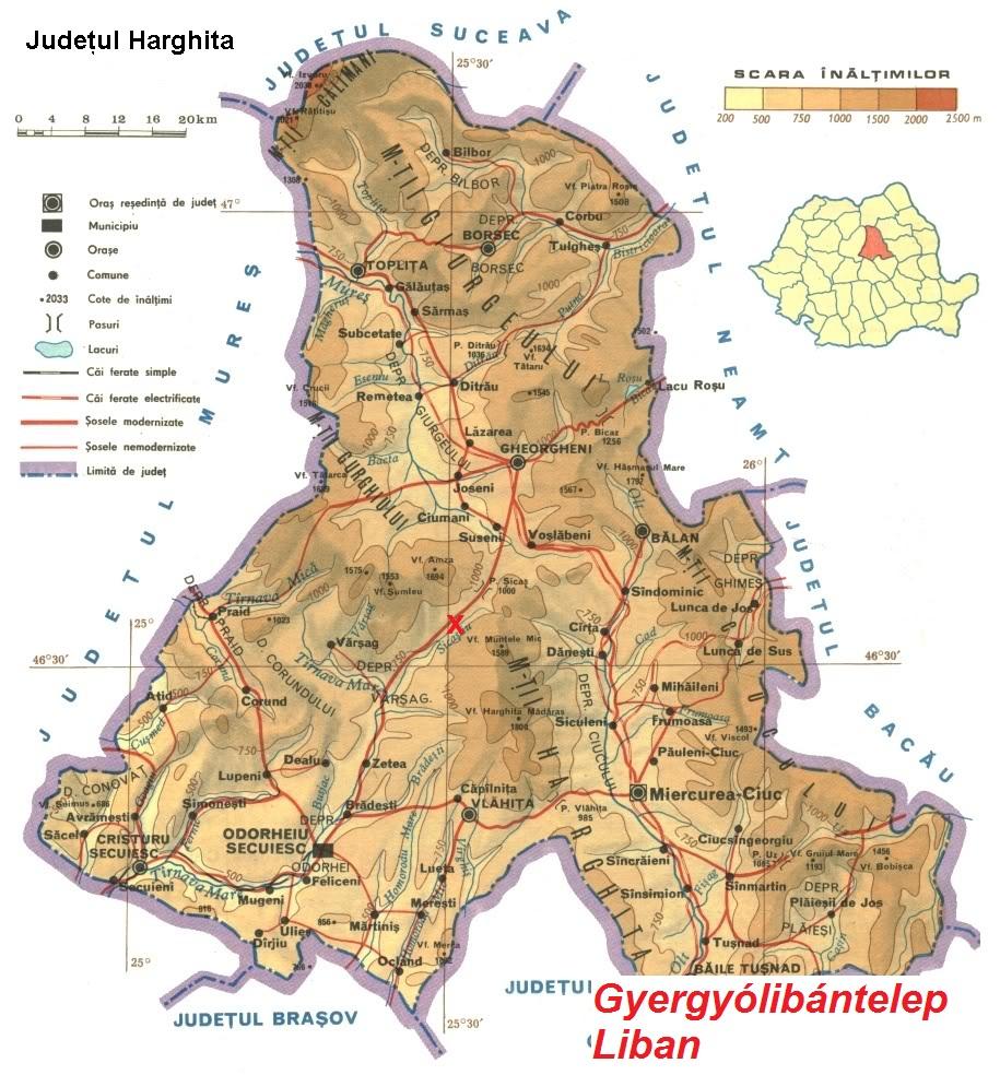Harta turistica Liban cazare