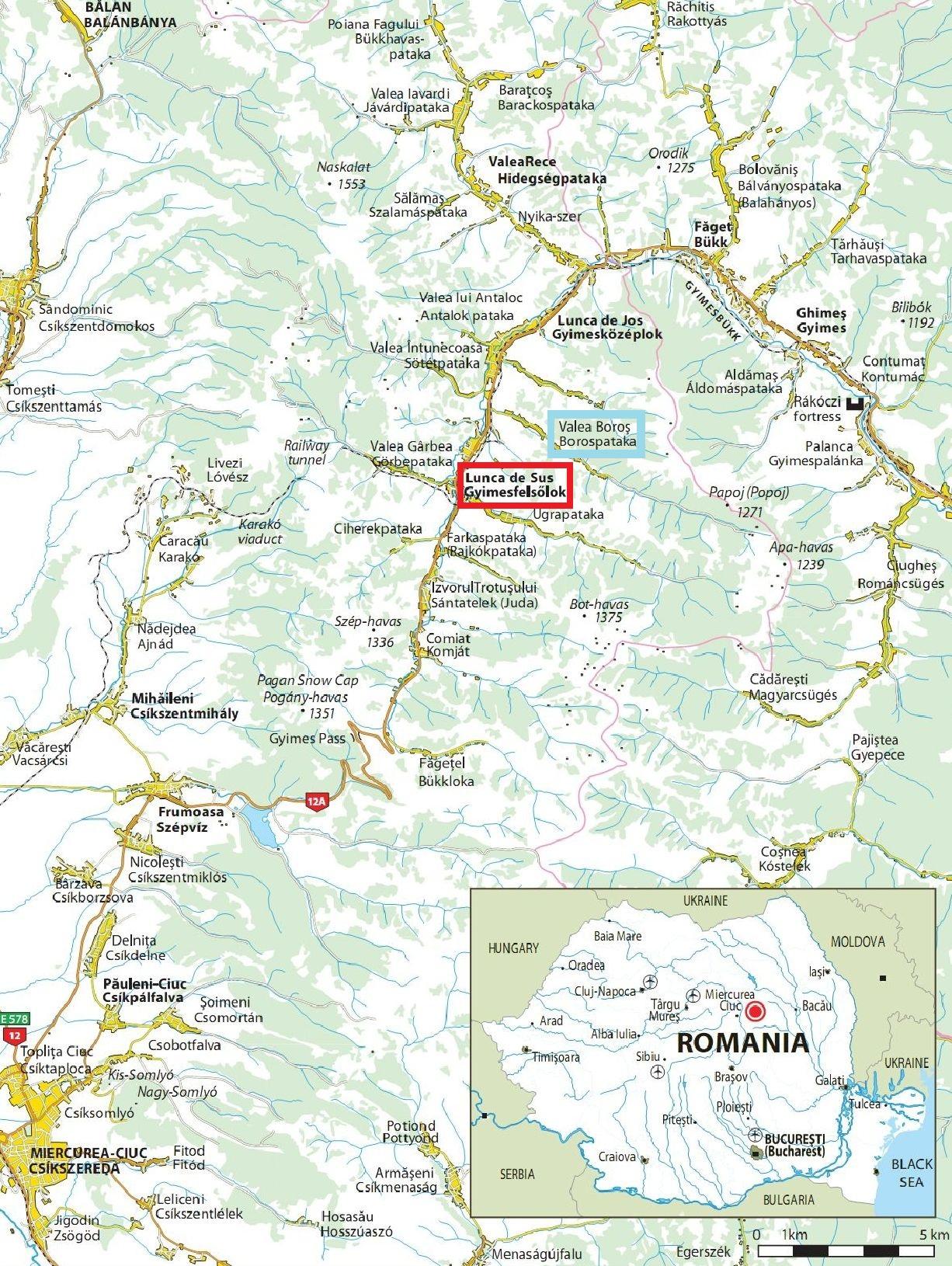 Harta turistica Lunca de Jos cazare