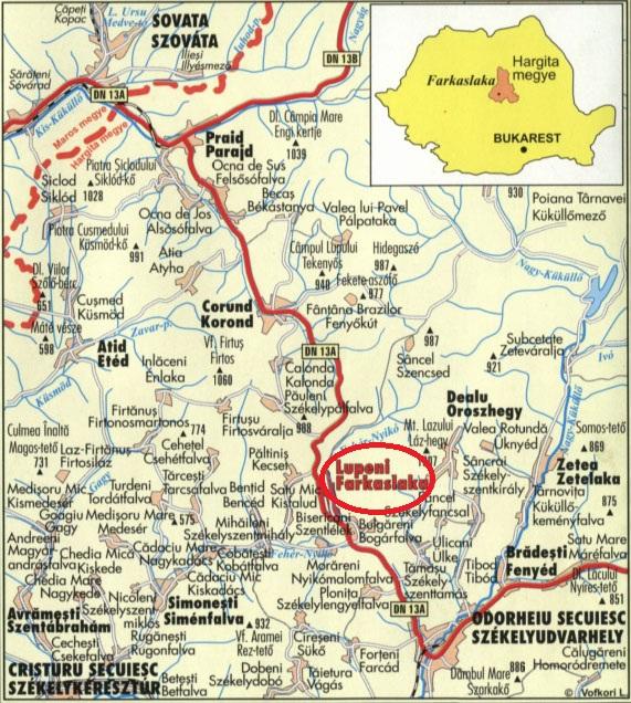 Harta turistica Lupeni cazare