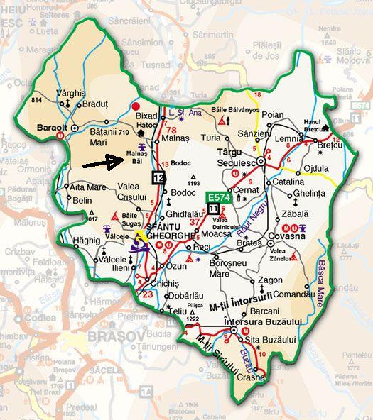 Harta turistica Malnas Bai cazare