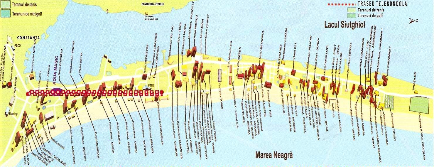 Harta turistica Mamaia cazare