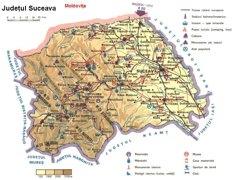 Harta turistica Moldovita cazare