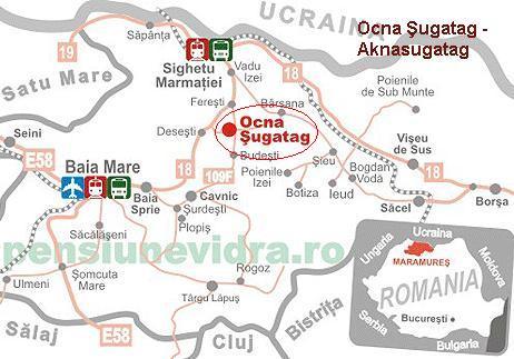 Harta turistica Ocnasugatag cazare