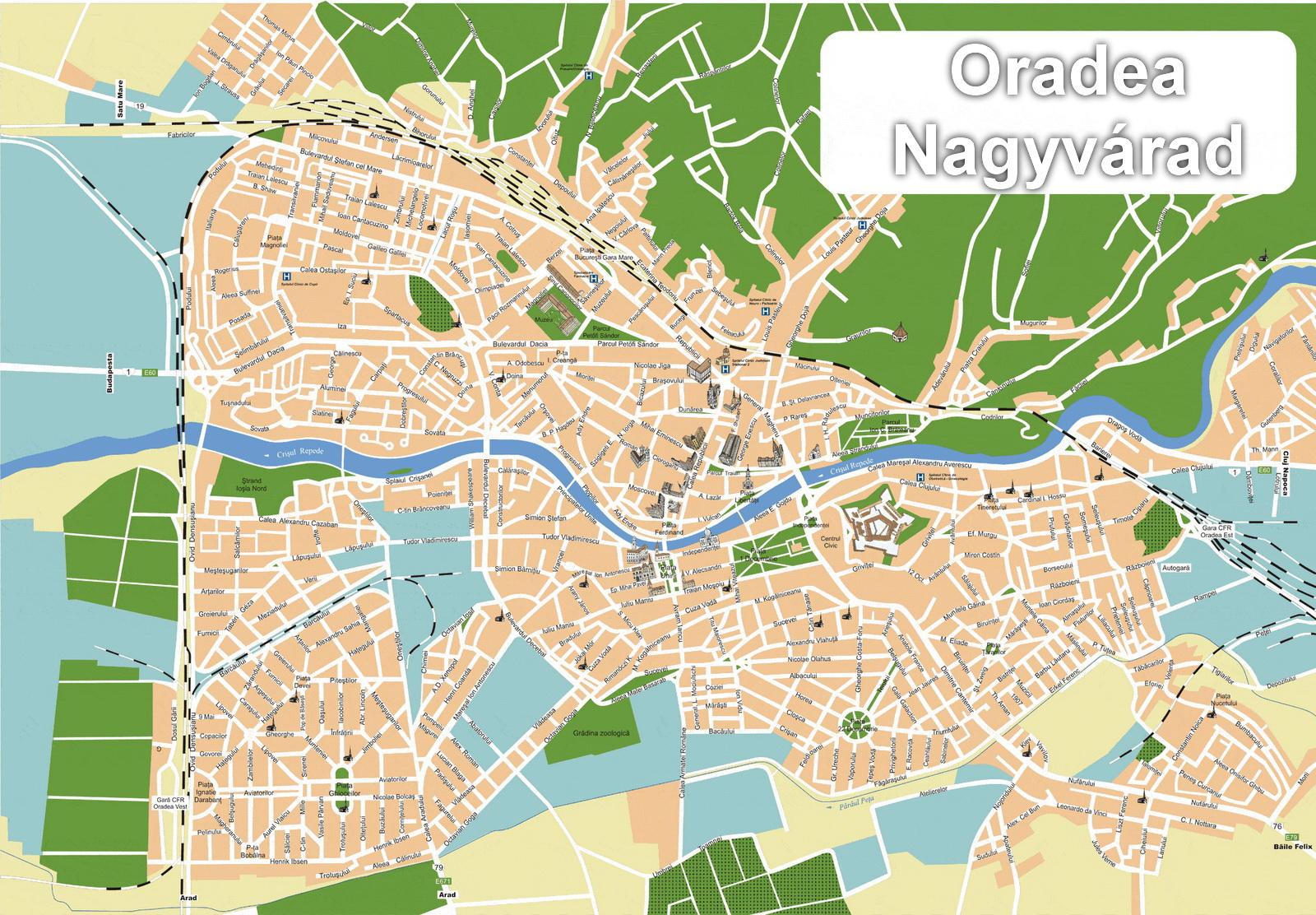 ORADEACazare OradeaHostel Pihe Rezervari Online Si Tel In - Oradea map