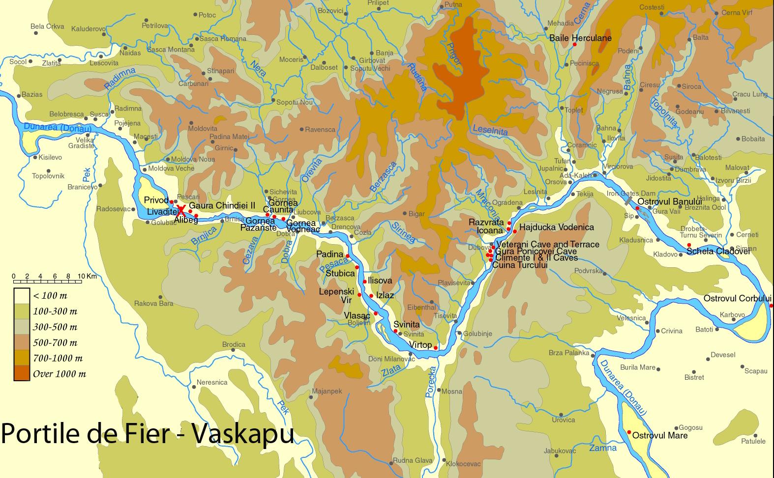 Portile De Fier Judetul Mehedinti Muntenia Bazinul Carpatic