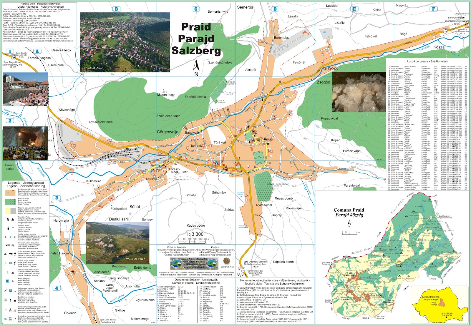 Harta turistica Praid cazare