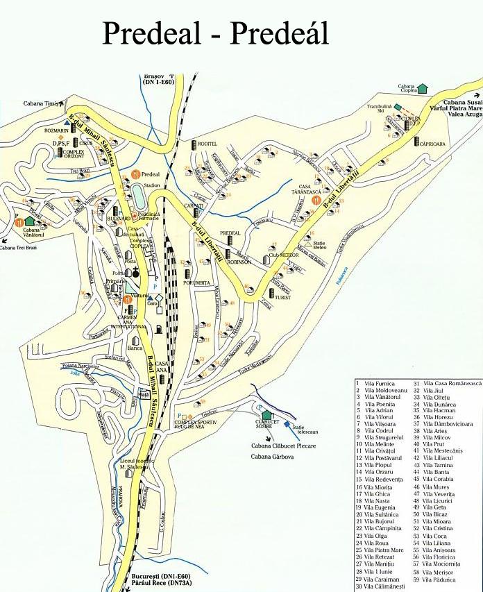 Harta Zone Turistice Statiuni Romania
