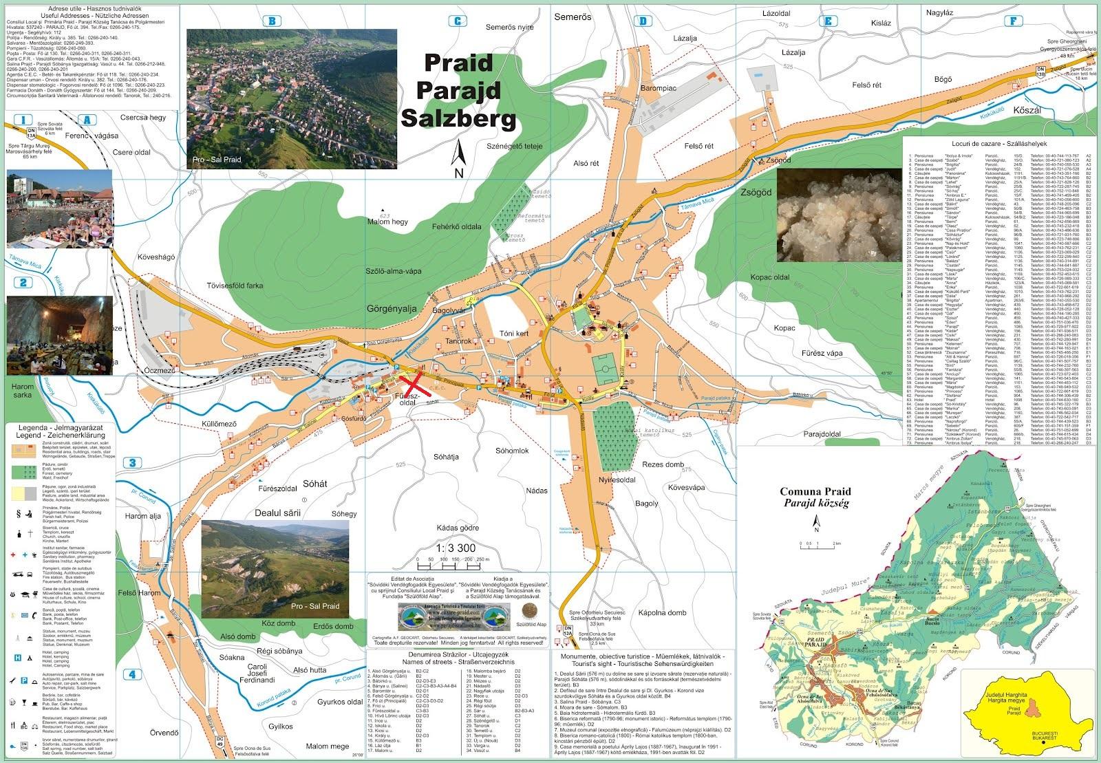 Harta turistica Salina Praid cazare