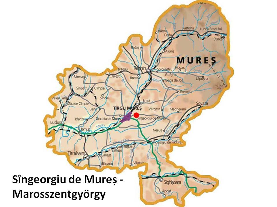 Harta turistica Sangeorgiu de Mures   cazare