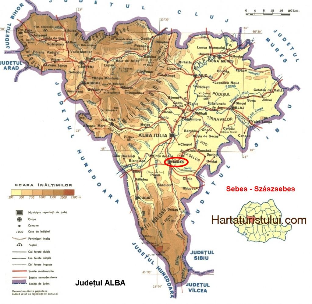 Harta turistica Sebes cazare