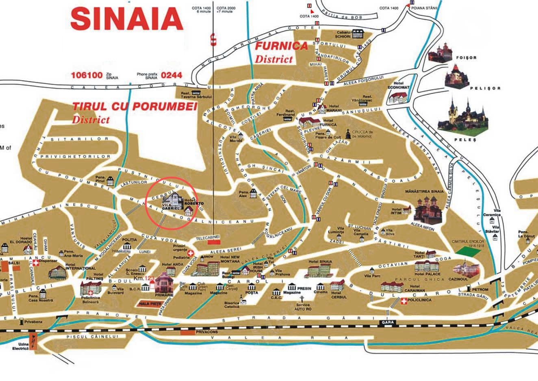 Harta turistica Sinaia cazare