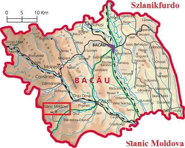 Harta turistica Slanic Moldova cazare