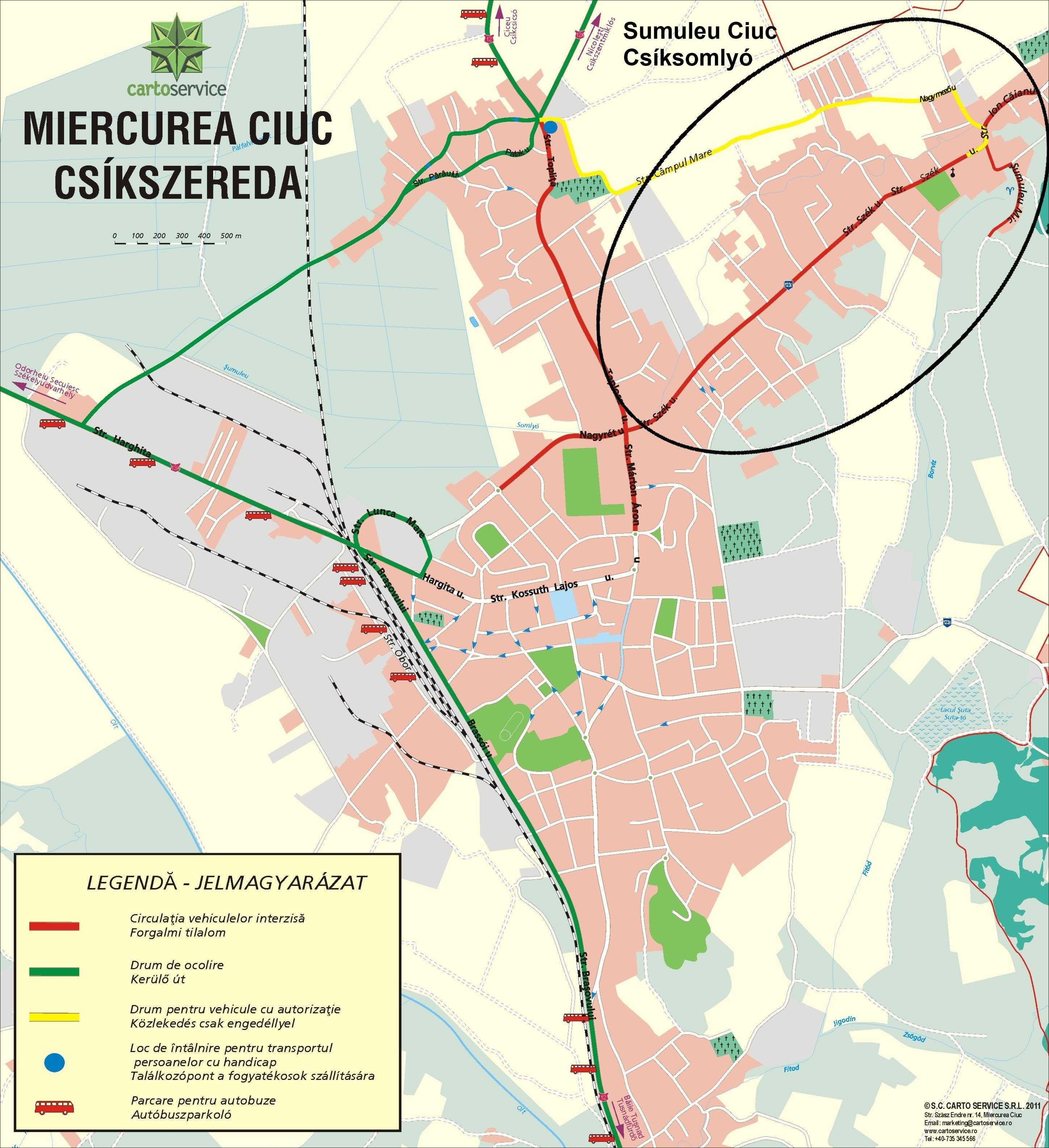 Harta turistica Sumuleu Ciuc cazare